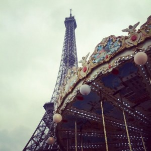 The Eiffel Tower and the carousel